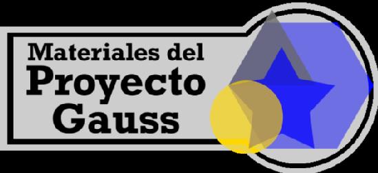 Materiales del Proyecto Gauss: TVM