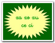 Letra Z / C