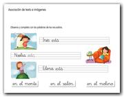 Asociación de texto e imágenes