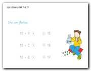 Los números del 11 al 19