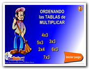 Ordena las tablas de multiplicar