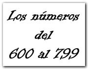Los números del 600 al 799