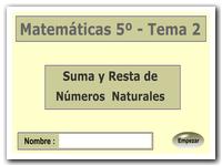 Sumas y restas de números naturales