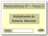 Multiplicación de números naturales. Propiedad conmutativa