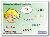 Repasa las tablas de multiplicar