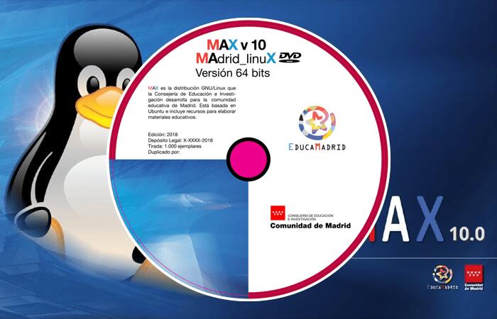 MAX 10, basada en Ubuntu 18.04, para procesadores de 64 bits (ordenadores con menos recursos).