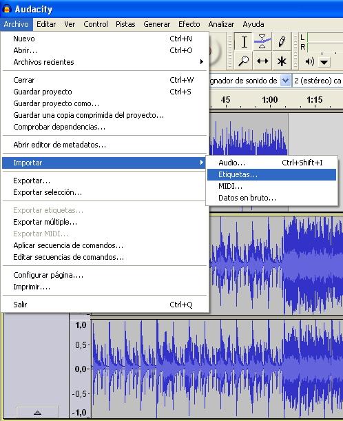 Importar audio