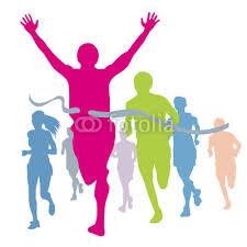 corredores llegando a la meta