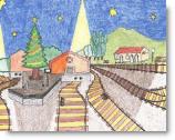 Cartel Tren de la Navidad